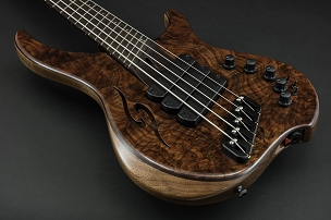 Dingwall ABII 3X Custom 5-String Bass, Wenge Neck, X-top Walnut Burl, Glockenklang Pre w 3x Switches. In-Stock & Ready to Ship!